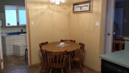 Aframe main level dining area