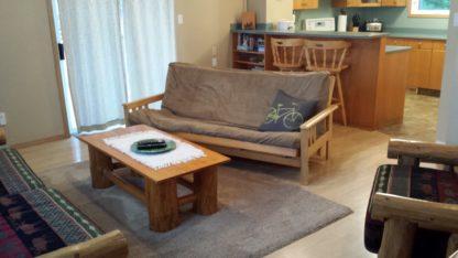 Aframe main level living room futon sofabed