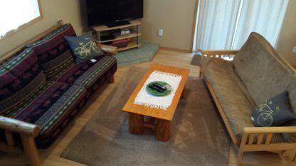 Aframe main level living room