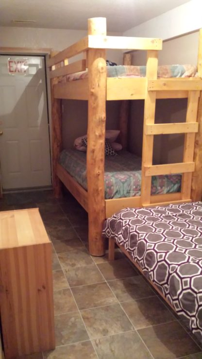 Aframe basement bunk beds
