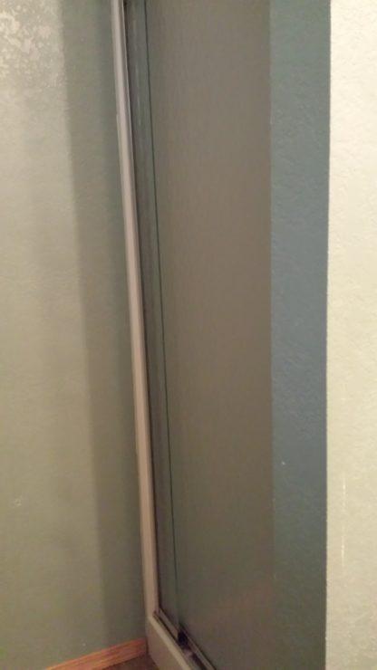 Aframe basement bathroom stand up shower