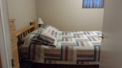 Aframe basement bedroom