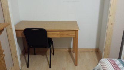 Aframe basement bedroom closet/desk