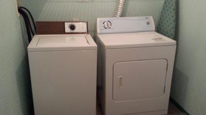 Aframe basement laundry w/d