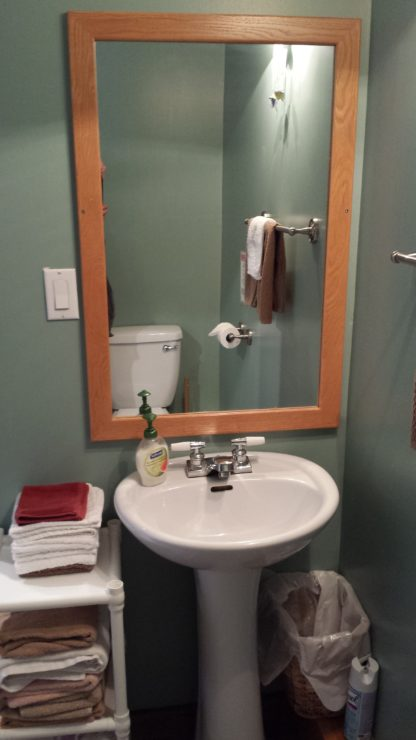 Bunkhouse bathroom sink